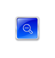 Zoom out icon on blue button vector image