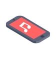 Isometric phone flat design vector image
