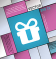 gift icon sign Modern flat style for your design vector image