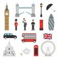 London Landmarks Flat Icons Set vector image