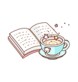 a book is opend vector image vector image