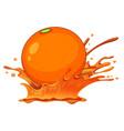 a splash orange juice vector image