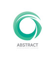 abstract green ring - logo template concept vector image vector image
