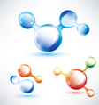 abstract molecule shape vector image vector image