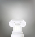 architectural background ionic column d vector image vector image