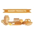 Bakery products still-life flat style Set of vector image vector image