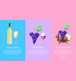 best quality taste bouquet set of posters vector image vector image