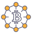 bitcoin outline symbol vector image