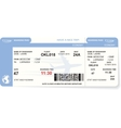 Blue airline boarding pass ticket