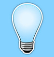 blue bulb vector image vector image