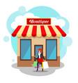 boutique exterior image vector image