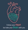 Brain and heart quotes vector image