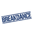 breakdance stamp vector image vector image