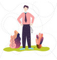 businessman has no money empty pockets plant vector image