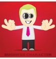 Cartoon Business Character vector image