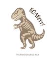 Cartoon tyrannosaurus Rex dinosaur fossil vector image vector image