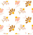 chamomile simple flowers modern pattern seamless vector image vector image