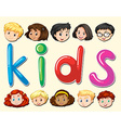 Children with happy face vector image