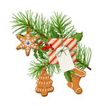christmas festive decoration vector image vector image