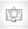 Christmas star black linear icon vector image