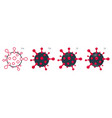 coronavirus molecule cell set icons vector image