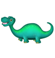 cute Brontosaurus cartoon vector image vector image