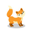 cute little fox funny pup cartoon character vector image