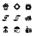 donation wherewithal icons set simple style vector image vector image