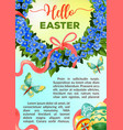 eeaster holiday flower poster template vector image vector image