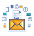 email message document security cyber digital vector image vector image