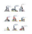 factory buildings industrial urban power vector image vector image