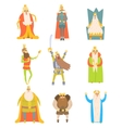 Fairy-Tale Kings Set Of Cartoon Fun vector image vector image