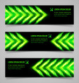 Fire banners vector image vector image