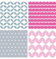 Four wavy pink and gray abstract geometric vector image vector image