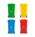 garbage bin for recycle icons set rubbish waste vector image vector image