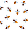 honey bee pattern pattern vector image