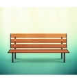 Isolated Bench vector image vector image