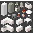 isometric kitchen set vector image vector image
