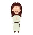 jesus christ man cartoon vector image vector image