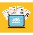 Job interview icon design vector image