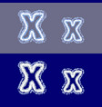 letter x on grey and blue background vector image