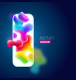 liquid color background design fluid gradient vector image