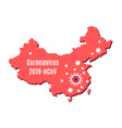 map china and coronavirus outbreak in wuhan vector image