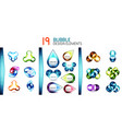 mega collection of bubble buttons vector image vector image