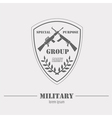 Military logo and badges Graphic template vector image vector image