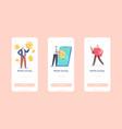 mobile savings app page onboard screen vector image