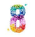 number 8 of butterfly vector image vector image