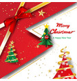 paper art and craft of merry christmas and happy vector image