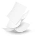 Paper drop 02 01 vector image vector image