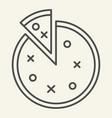 pizza thin line icon round pizza vector image